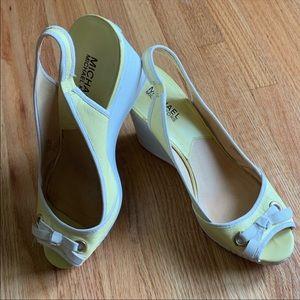 MICHAEL Michael Kors wedge peep toe sandals